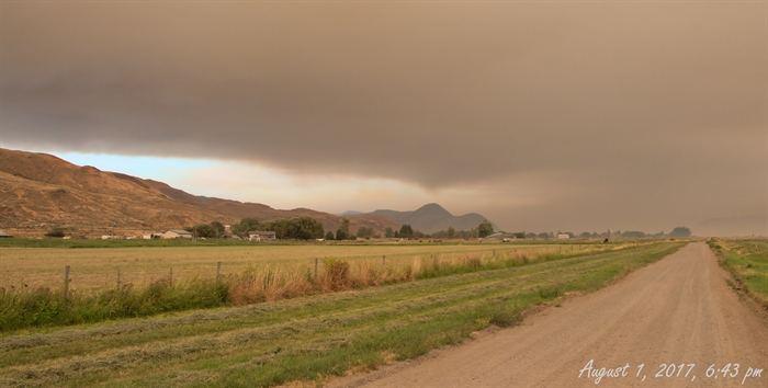 Kamloops skies are clouded with thick smoke.