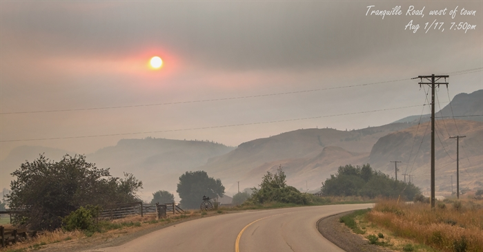 Kamloops and surrounding area are all blanketed in thick smoke from surrounding wildfires.
