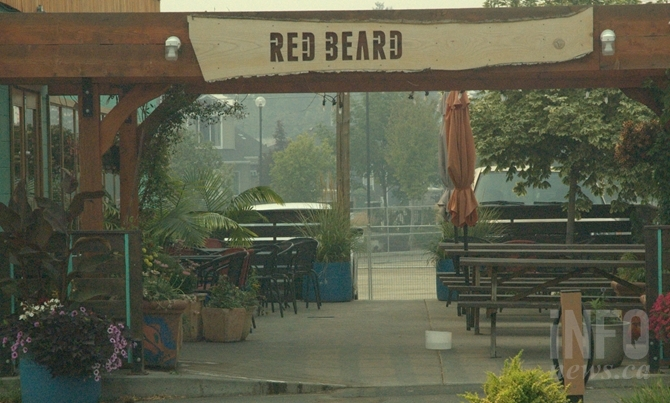 Popular summer hangouts like the patio at Redbeard Cafe are left empty due to smoke.
