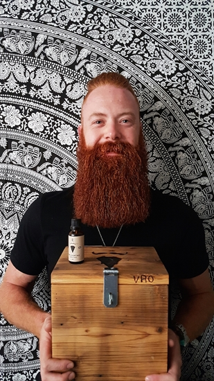 Co-founder Cody Scheffelmaier attributes  his viking-like beard to Valley Ridge Oils.
