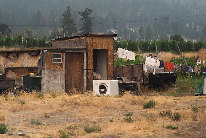 Sheila Kennedy says this is the laundry area at a West Kelowna fruit picker camp.