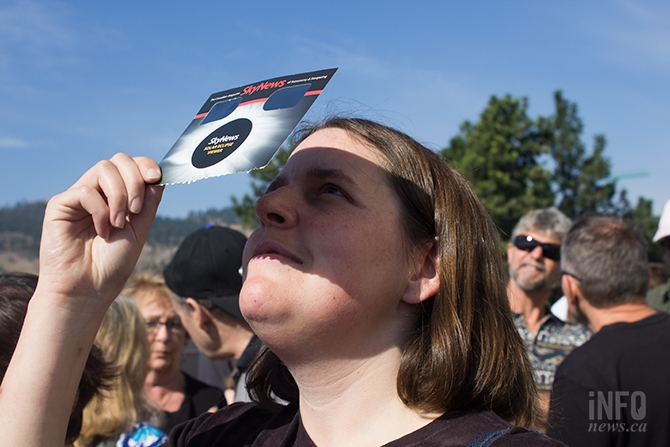Erin Klaudt got to TRU early today, Aug. 21, to take in the solar eclipse.