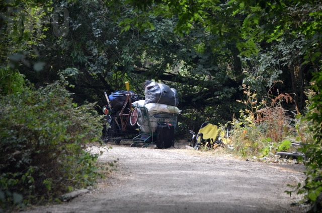The homeless camp at Polson Park is emptying out as enforcement of the new parks and public spaces bylaw begins.
