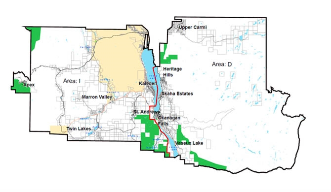 A proposal to split RDOS Electoral Area D in two, creating a new Area I is making the second and final round for public input in the coming weeks, with open houses scheduled for Kaleden and Okanagan Falls on Sept. 12, 2017.