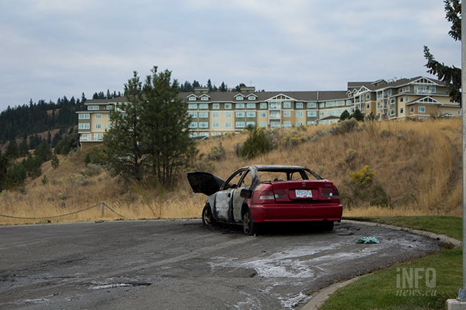 About 10 minutes after the shooting, a car was found on fire on Whiteshield Crescent and Odin Court on Sept. 21. Police are investigating if this is connected to the shooting.
