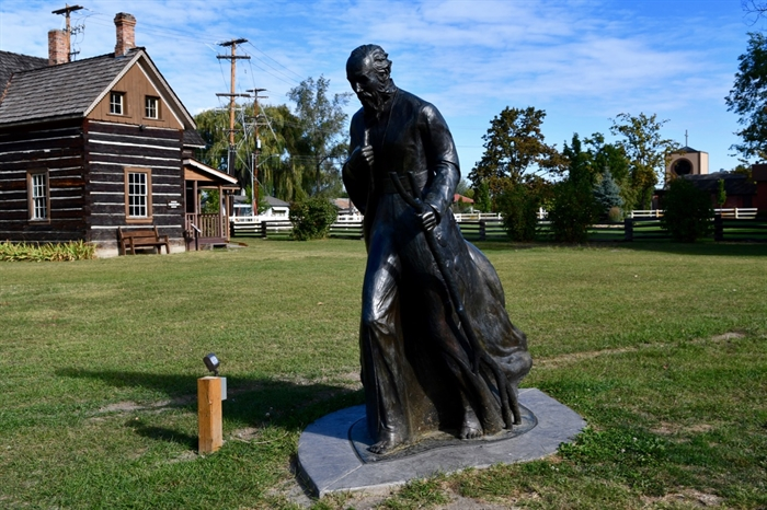 A statue of Father Charles Pandosy.