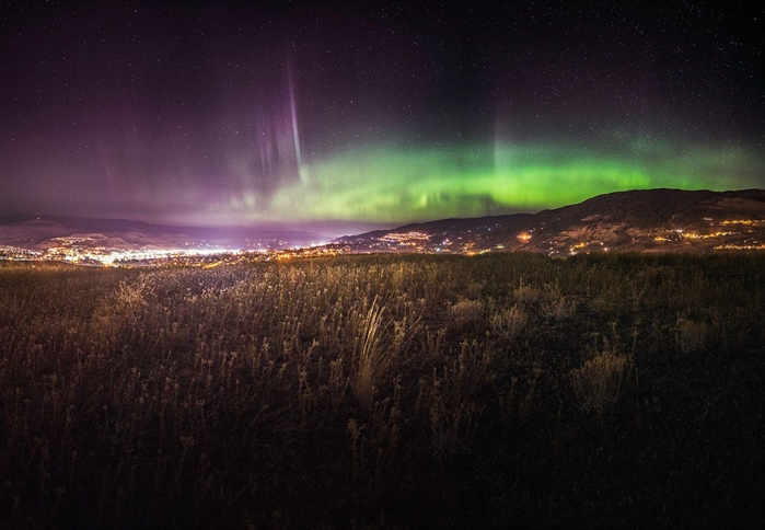Vernon photographer Jordan McGrath captured this shot of the northern lights from Middleton Mountain in the early morning hours of Sept. 28, 2017.
