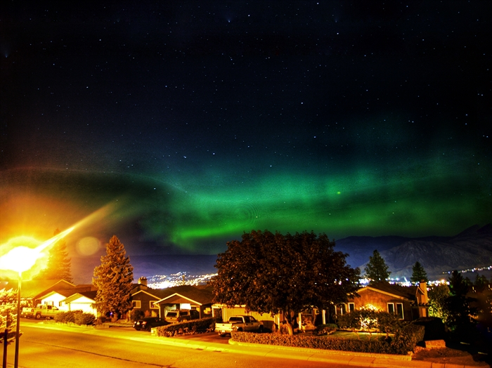 The northern lights in Kamloops on Sept. 27, 2017.