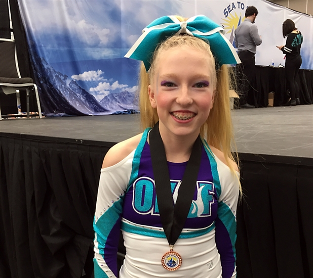 Kelowna cheerleader Callie Tansem, 13.