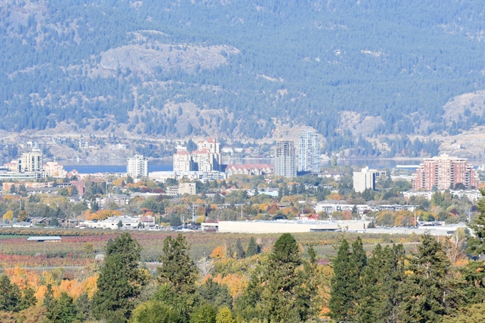 Kelowna's roots as an agricultural town are evident in this photograph taken from East Kelowna.