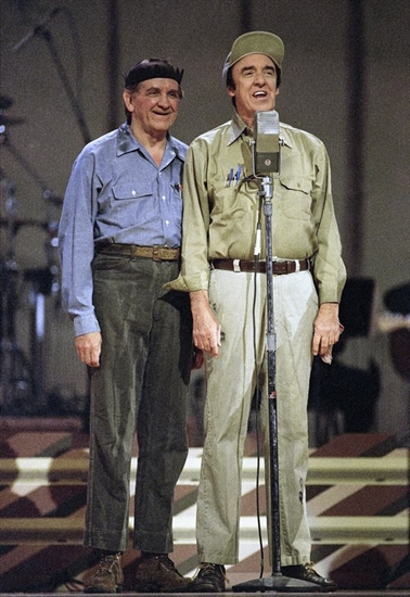 "George Lindsey, left, and Jim Nabors, from ""The Andy Griffith Show."