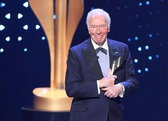 Christopher Plummer accepts the Lifetime Achievement Award at the 2017 Canadian Screen Awards in Toronto on Sunday, March 12, 2017. Plummer has been nominated for a Golden Globe Award for his role in
