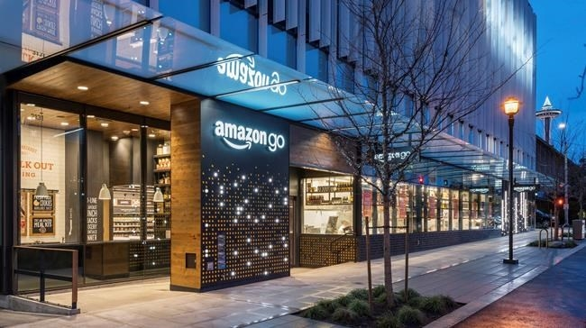 This undated image provided by Amazon shows an Amazon Go store in Seattle. More than a year after it introduced the concept, Amazon is opening its artificial intelligence-powered Amazon Go store in downtown Seattle on Monday, Jan. 22, 2018.