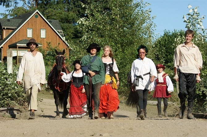 Actors will engage in medieval garb and ways as they re-enact life during Medieval times during the faire.