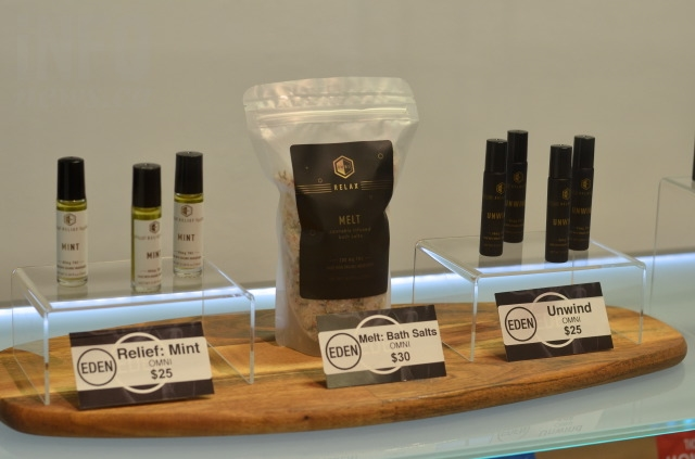 Products for sale at My Eden, one of the newer of roughly a dozen dispensaries to open in Vernon.