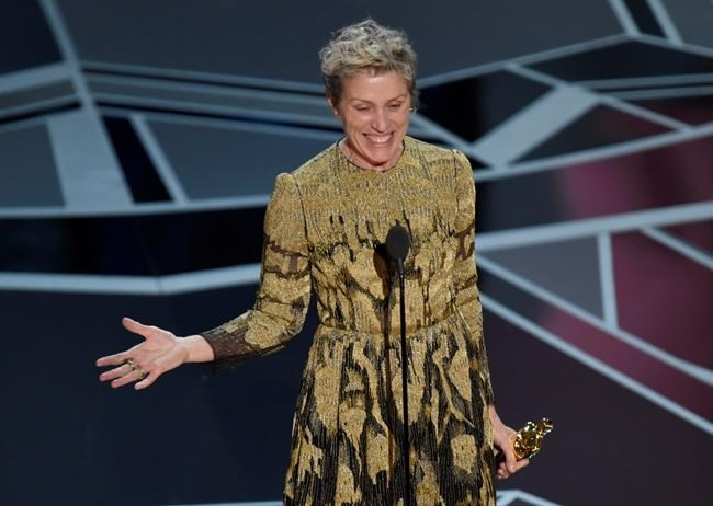 Frances McDormand accepts the award for best performance by an actress in a leading role for