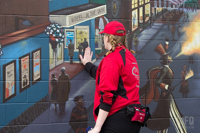 Murals cover buildings in the alley ways of downtown Kamloops, a project that was designed to help deter graffiti.