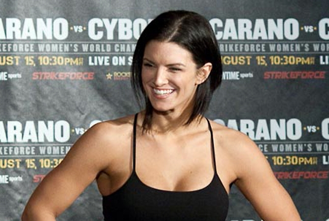 Actress and MMA star Gina Carano is co-starring in a movie being filmed in West Kelowna.