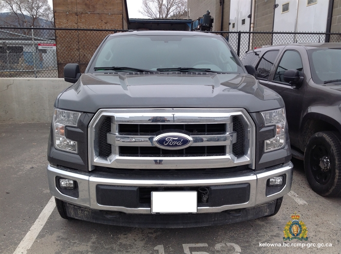 There are lots of Ford F-150s out there and in this colour. This photo shows the chrome grill at the front of the truck.