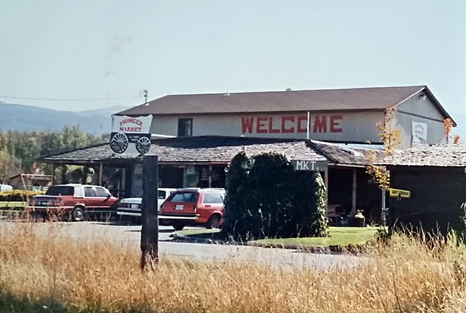 The Pioneer Country Market in the summer of 1987.
