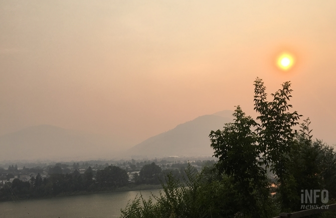 The morning of July 10, 2017 Kamloops was blanketed by smoke.