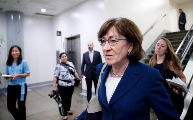 Sen. Susan Collins, R-Maine, walks on Capitol Hill, Wednesday, Oct. 3, 2018 in Washington.