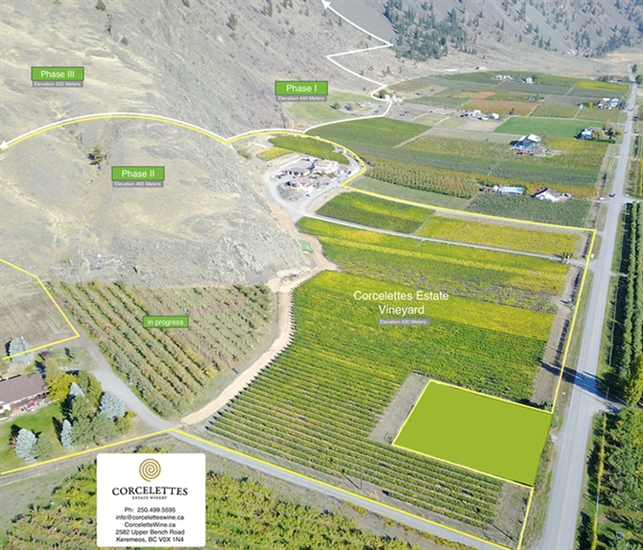 Corcelettes Estate Winery in Keremeos has acquired a 132 acre piece of benchland east of Keremeos.