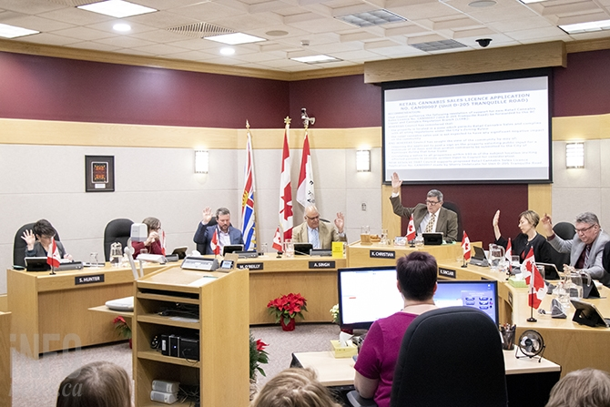Kamloops city council votes unanimously to approve two more cannabis stores on Dec. 18, 2018.