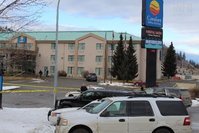 Kamloops RCMP were called out to the Comfort Inn and Suites at around 8:50 a.m. on Jan. 23 in Aberdeen. A man was transported to the hospital after suffering gunshot wounds. He later died of his injuries.