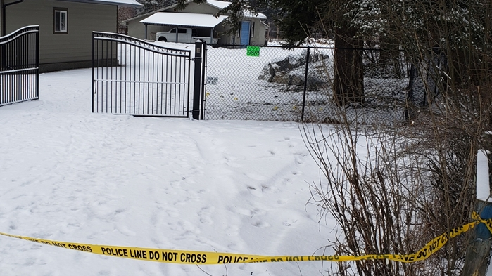 A house on Park Lane in Lavington is pictured in this submitted photo. The property was surrounded by police tape, Friday, Feb. 8, 2019.