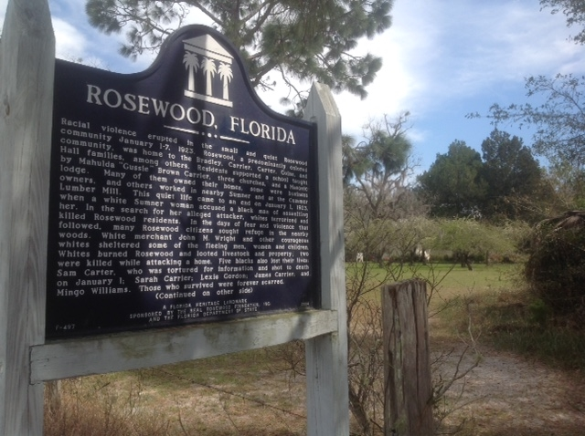 An historical marker on the site where until 1923 there was once a vital community.