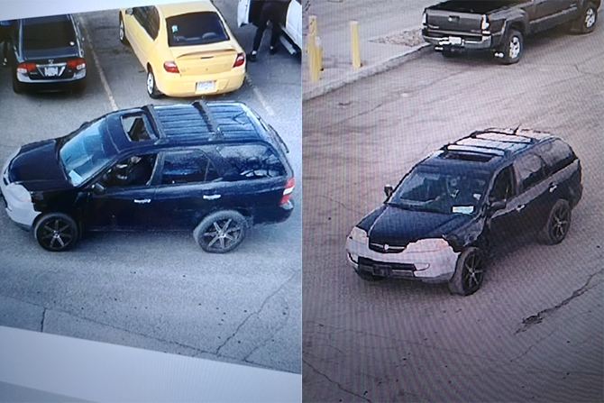 Police say video surveillance shows the same vehicle was used in both the robbery and the hit and run.