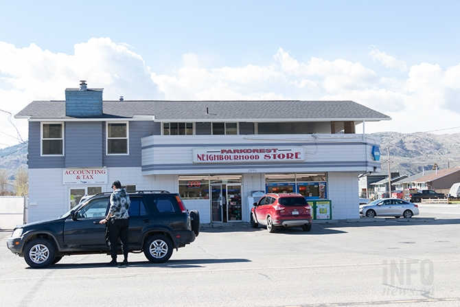 Parkcrest Neighbourhood Store in Kamloops was robbed, Monday, April 15. Police have a suspect in custody in connection with the holdup, and three others over 30 hours in the city.