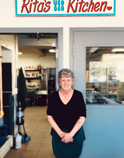 Rita Evans has run the Upper Room Mission's kitchen for more than a decade.