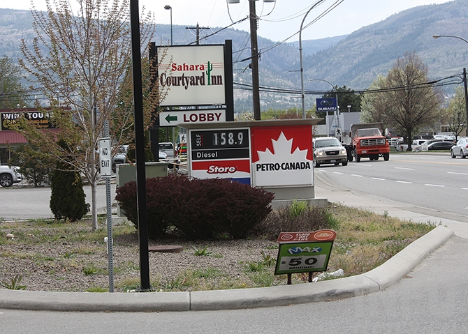 The Petro Canada station at Westminster and Eckhardt is also at $1.58.9 this afternoon, May 1, 2019.