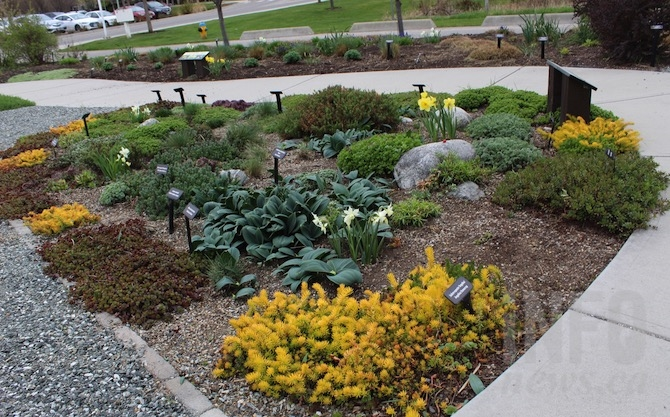 The xeriscape demonstration garden at the H2O Fitness and Adventure Centre in Kelowna.