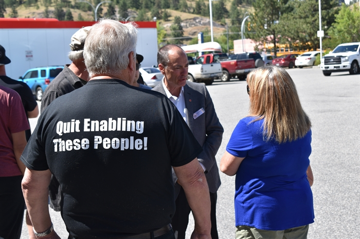 Kelowna-Lake Country MLA Norm Letnick attended a walking tour in Kelowna's Rutland neighbourhood, Tuesday, June 25, 2019.
