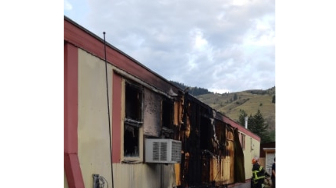 The fire jumped to Ducharme's trailer within minutes. The extent of the damage done is not yet known.
