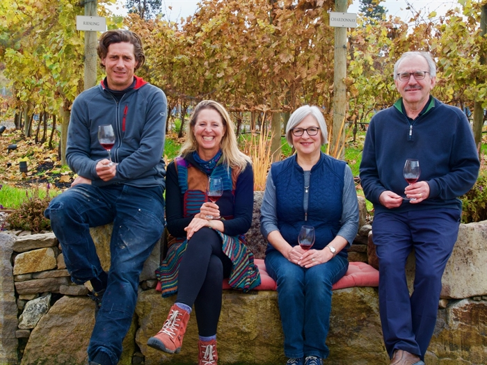 Spearhead Winery team (l-r) Winemaker Grant Stanley, Annabel Stanley, owners Marina and Bill Knutson