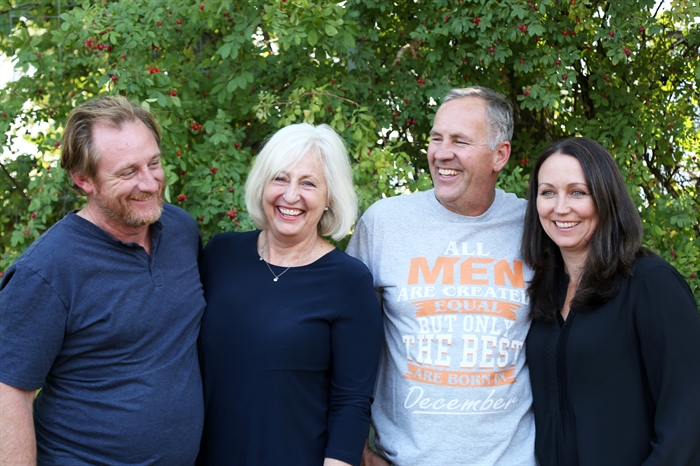 The Mayhem team: (l-r) Andrew Stone, Terry Meyer Stone, Jak Meyer & Janice Stevens