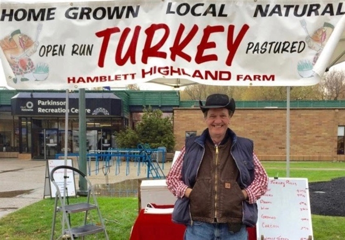 Turkey farmer Mike Hamblett's local birds are available for pre-order