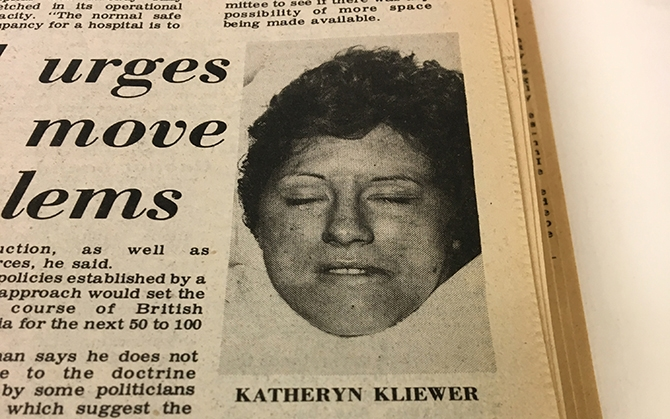 In an effort to find anyone who knew anything about Kliewer, police released a photo of the 25-year-old on May 27, 1976.