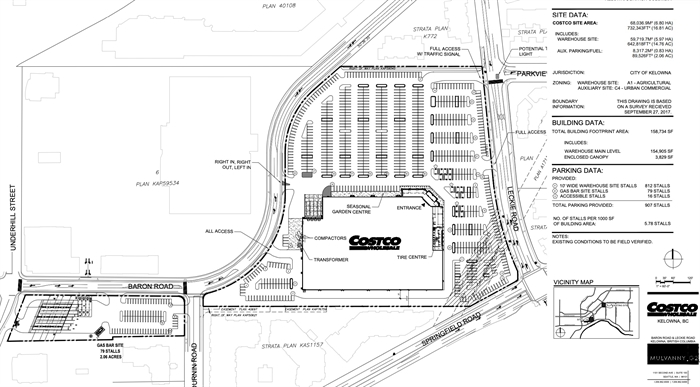 Plans for a new Kelowna Costco have been submitted to city hall.