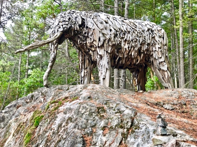 The great driftwood Mastodon art installation is a must see