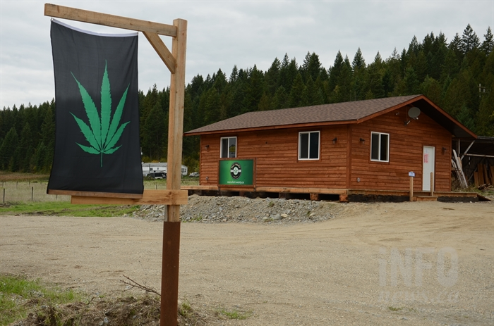 Located in what appears to be a brand new building, Fort-Wenty Cannabis recently opened its doors on Highway 97A outside Enderby.