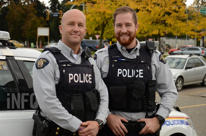 Const. Mark Macaulay and Const. Ryan Carey.