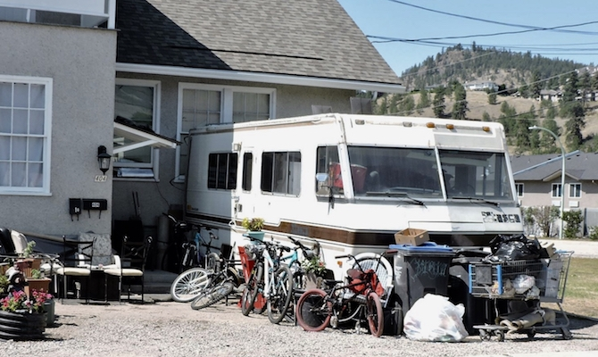 Stolen goods are sometimes stored in older motorhomes.