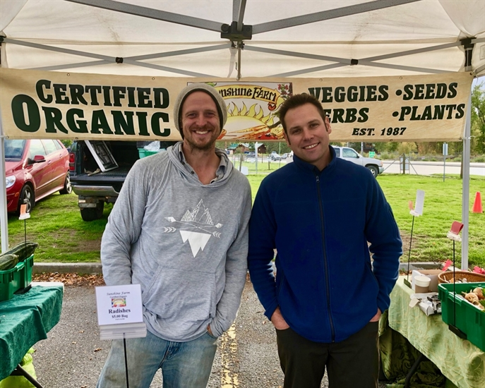 Russ & Matthew from Sunshine Farms are an example of organic farmers with big hearts