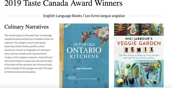 From the Culinary Narratives Category, these two beautiful books are a must for food and garden lovers.