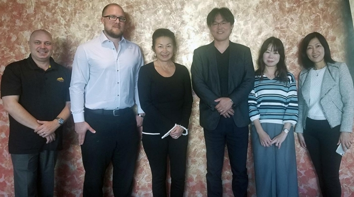 A Kamloops-based company just signed a deal with a major Japanese health care company and it seems that easy sleep is going to spread around the world. From left to right: Corey Sigvaldason, Marshall Krueger, Nancy McGovern, Kazuhiko Watanabe, Miyako Watanabe and interpreter Michiko Sundin.
